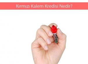 Kırmızı Kalem Kredisi Nedir?