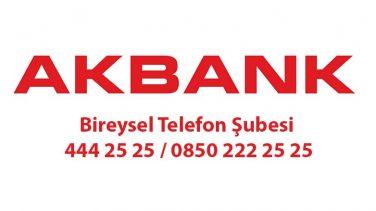 Akbank Bireysel Telefon Şubesi 444 25 25 / 0850 222 25 25