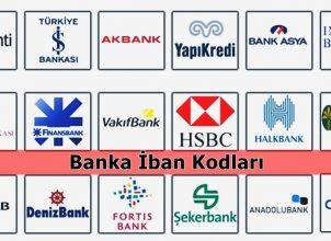 Banka İban Kodları