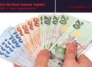 1000 Lira İle Nasıl Yatırım Yapılır? 1000 TL Nasıl Değerlendirilir ?